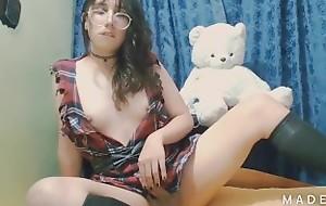 Beautiful colombian shelady wanking approximately sex-toy - Angeles del Mar