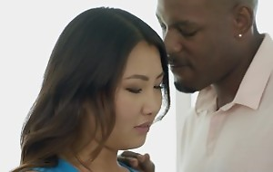 BLACKED Tight Asian Babe Jade Luv Screams greater than Massive Inky Cock
