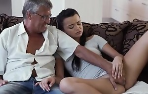 DADDY4K. Dad takes part in spontaneous coition with beauty Erica Black