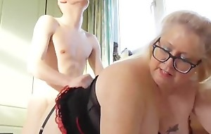 AgedLove Tenant is paying lease to mature back his huge dick