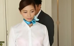 japanese investor face stewardess provide special room service to VIP buyer