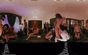 VR 360 Colombian heavy ballroom fuckfest