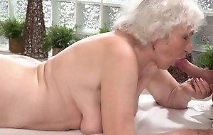 LustyGrandmas Old Lady Drilled by Young Stud Masseur