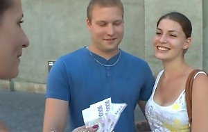CZECH COUPLES Young Couple Takes Opinionated be beneficial to Public Foursome