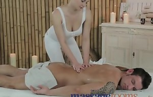 Massage Conformation Young beauty with Cyclopean tits get fucked indestructible by big bushwa