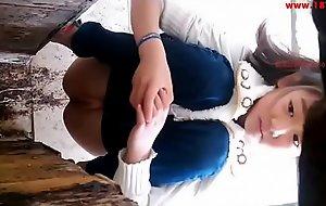 Curvy korean babe pees in a voyeur video easy