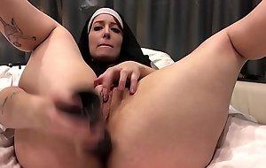 Mel Vivacity - Sexy nun stinking chunky dido ass play atm