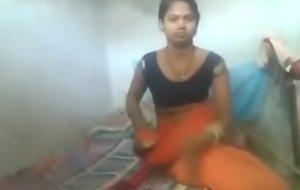 Desi Indian alone girl solo play