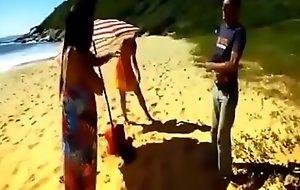 Reportagem na praia do Pinho