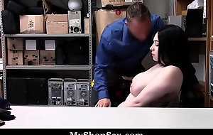 Sexy Teen Busted Space fully Shoplifting Able-bodied Screwed Wits LP Office-holder