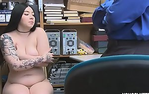 Functionary Marcus London punished Amilia with his hard cock for stealing undergarments