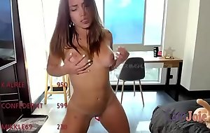 big tits tanned camgirl value as she cums