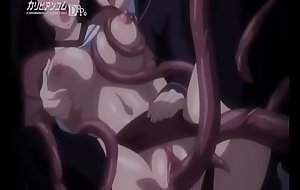 Bondage Anime Hentai Lesbian Maid Humilation in Group with Tentacles