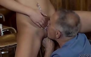 DADDY4K. Slutty unspecified altogether wants to take a crack at hard cock of paramours dad