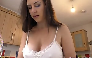 Naughty big boobs babe resembling off her beautiful interior