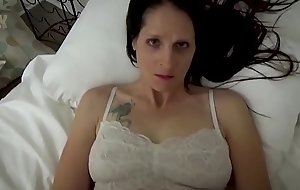 Mom &amp_ Son Share a Bed - Mom Wakes Up all over Son Masturbating - POV, MILF, Unobtrusive Sex, Mother - Christina Sapphire