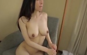 Asian japanese av idol being fucked here hardcore sex movie, man here costume is wipe the floor with say no to pussy and cums on say no to tits