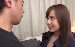 Intake Asian babe with huge licentious appetite gets eaten out with the addition of deeply fucked