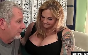 Titillating chunky breasted blond BBW Kali Kala Lina drilled