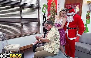 BANGBROS - Elfin Youthful Blonde Anastasia Knight Fucked Hard by Vulgar Santa Claus!