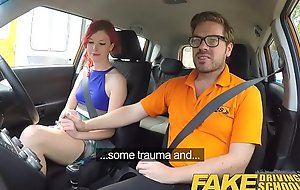 Feign Driving Instructor Instructor fucks with an increment of creampies sexually frustrated redhead