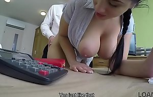 LOAN4K. Seductive masseuse pleases loan agent right in his office