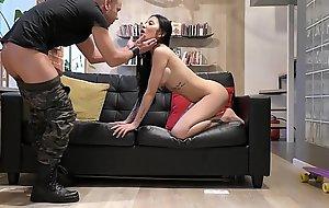 a military man Fucks a beautiful Mongol woman Melissa Rel