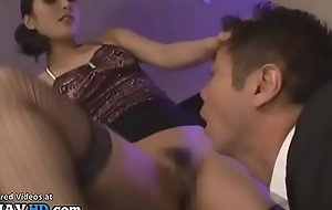 Japanese horny housewife in stockings wants to have sex