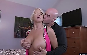 Huge tit blonde cougar