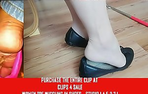 Clips4Sale Preview White Stocking Flats Toe Wiggling