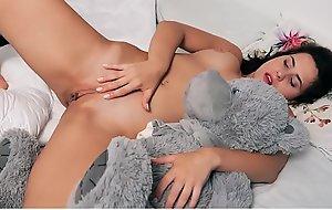 Mara Blake amazing sex scene with teddy bear