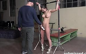 Barbara Struggling with a Fuck Machine