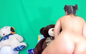 Pretty BBW teen with nice ass undressed