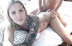 Fucking Her Blond TS Dark hole