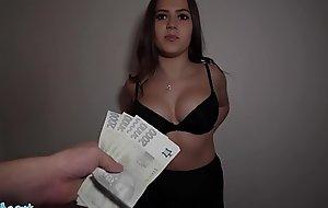 Public Agent Celeb lookalike Sereyna Gomez fucked on stairs