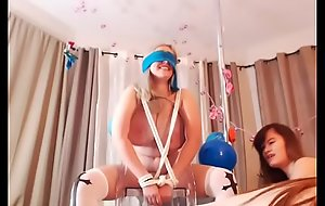 3 Busty Amateur Girls Having Birthday Fun With Cupcakes, Giant Dildo and Sybian - Part 1 - Amateur-Cam-Girlsfuck movie clip