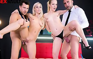 VIP SEX VAULT - Foursome Party With Two Sexy Young Wifes (Sicilia Model And Nesty)