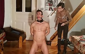 Slave training and humiliation by sexy slim domina mistress pt1 HD