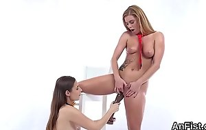 Kinky lesbian centerfolds are fisting tight kitties and anals