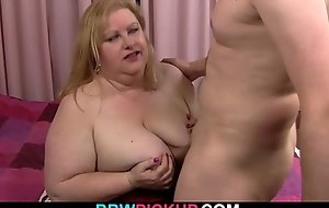 Huge fat ass plumper picked up for 69 and cock riding