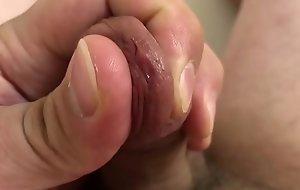 Closeup Rubbing Precum