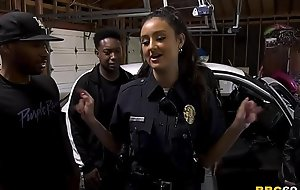 Police Officer Eliza Ibarra Deepthroats Every Big Black Cock