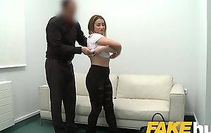 Fake Agent Amateur Model gets her first taste of casting cock