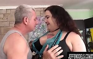 BBW Lieutenant Baby acquires masturbated well
