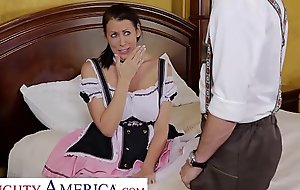 Naughty America Reagan Foxx gets a hard dick before the festival