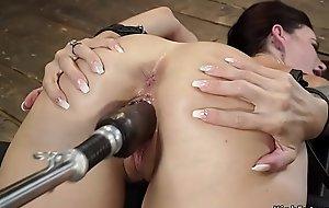 Fake big tits slave fucking machines