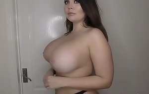 Big tits Terri Lou showing her boobs topless