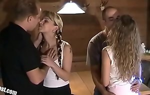 Nina and Nicole private Vacation Sextape 4some