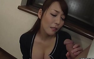Japanese wife, Akari Asayiri sucks dick, uncensored