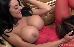 Deauxma and Busty UK girl Louis Jenson, Boobs and Bustiers
